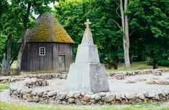 纪念碑在Kernave 免版税图库摄影
