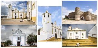 纪念碑在Veiros镇, Estremoz,葡萄牙 库存照片
