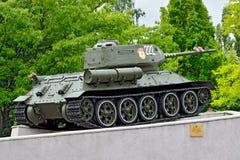 纪念碑坦克T-34 加里宁格勒(以前Koenigsberg),俄罗斯 免版税库存图片