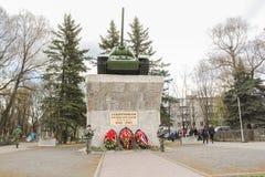 纪念碑坦克T-34 免版税库存图片
