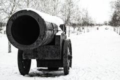 纪念碑大炮在我的城市 免版税库存图片