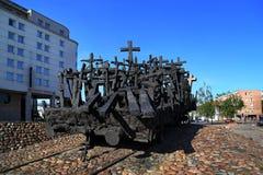纪念碑对死者和杀害在东方,马克西门科Biskupsky 免版税库存照片