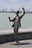 纪念碑少年渔夫 免版税库存照片