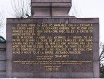 纪念碑居民,在第一和第二次世界大战中跌倒 免版税图库摄影