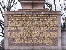 纪念碑居民,在第一和第二次世界大战中跌倒 库存照片