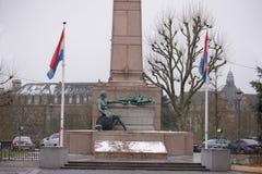 纪念碑居民,在第一和第二次世界大战中跌倒 免版税库存照片