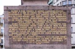 纪念碑居民,在第一和第二次世界大战中跌倒 库存图片