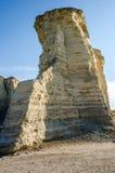纪念碑岩石白垩金字塔 免版税库存照片