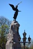 纪念碑战舰美人鱼在塔林 免版税图库摄影