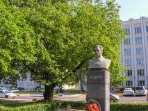 纪念碑政客M 伏龙芝城 免版税库存图片