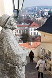 纪念碑有都市风景布拉格视图 库存照片