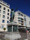 纪念碑海王星在Toulone法国 免版税库存照片