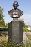 纪念碑甘地在街市魁北克市,魁北克,加拿大 库存照片
