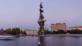 纪念碑的全景对俄国皇帝的 股票视频
