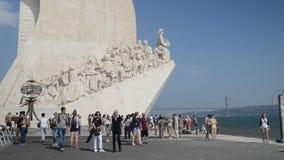 纪念碑的对发现,里斯本,葡萄牙游人 影视素材