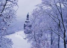纪念碑的看法对圣弗拉基米尔的在基辅 免版税库存图片