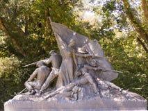 纪念碑纪念南北战争Vicksburg密西西比 图库摄影