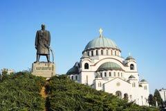 纪念碑纪念的Karageorge Petrovitch 库存图片