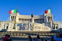 纪念碑维托里奥Emanuele祖国的II或法坛在罗马 免版税库存照片