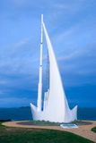 纪念碑船唱歌 库存图片