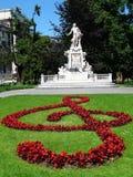 纪念碑莫扎特 库存照片