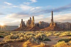 纪念碑谷亚利桑那美国 库存图片