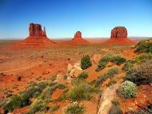 纪念碑谷公园,风景亚利桑那,犹他 库存照片