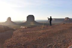 纪念碑谷摄影师,清早 库存图片