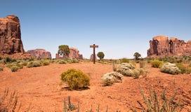 纪念碑谷标志,犹他,美国 库存图片