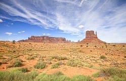 纪念碑谷的全景,美国 库存照片