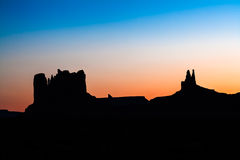 从纪念碑谷的场面 免版税图库摄影
