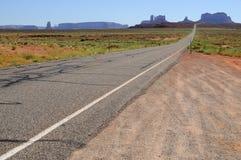 纪念碑谷的看法,从US-163风景路 图库摄影