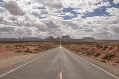 纪念碑谷神色,阿甘正传点的沙漠全景 图库摄影