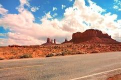 纪念碑谷路线163 库存图片