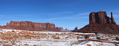 纪念碑谷那瓦霍尔人保留地全景 免版税库存照片