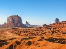纪念碑谷风景、亚利桑那和犹他 库存照片