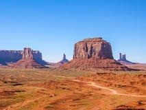 纪念碑谷风景、亚利桑那和犹他 免版税库存图片