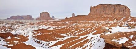 纪念碑谷,冬时 库存照片