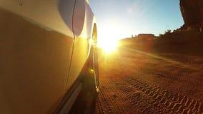 纪念碑谷,驱动通过沙漠峡谷 影视素材