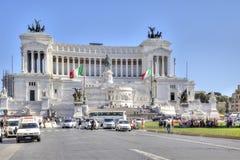 纪念碑阿尔塔雷della Patria和对Vittor国王的纪念碑 图库摄影