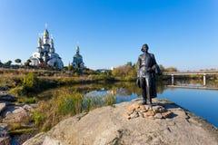 纪念碑马克西姆・高尔基在村庄Buki 库存照片