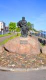 纪念碑驳船搬运工在雷宾斯克 俄国 免版税库存照片