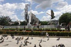 """纪念碑""""1300岁月的爆破近Bulgaria†由NDK在索非亚,保加利亚†""""2017年7月4日 共产主义政权 库存图片"""