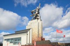 纪念碑`工作者和集体农场女孩`,莫斯科,俄罗斯 免版税库存照片