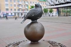 纪念碑麻雀 巴拉诺维奇,白俄罗斯 免版税图库摄影