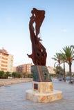 纪念碑Catalunya 卡拉费尔的堤防 库存图片