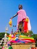 纪念碑Chamadevi女王/王后 图库摄影