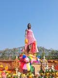 纪念碑Chamadevi女王/王后 库存图片