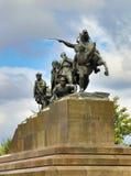 纪念碑Chapaev和他的在翼果的军队 图库摄影