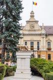 纪念碑Lupa三色方形-罗马人` s latinity的标志-的Capitolina近对布拉索夫老镇位于Ro 库存图片